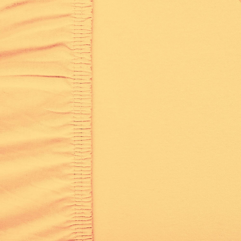 aqua-textil Viana sábana Bajera Ajustable, algodón, Amarillo, 90x200 bis 100x200 cm: Amazon.es: Hogar