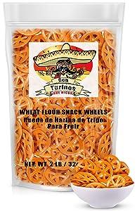 Duritos (Duros) Pinwheel Wheat Snacks 2LB - Traditional Mexican Fried Wheat Wheel Pasta Snack Food - Fritura De Rueda - Duros de Harina by Turinos