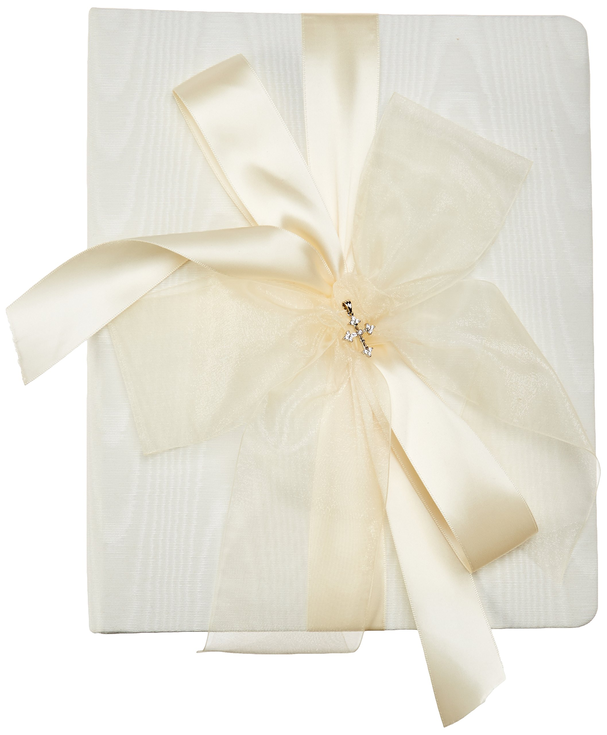 Beverly Clark Collection Grace, Memory Book with Crystal Cross, Ivory