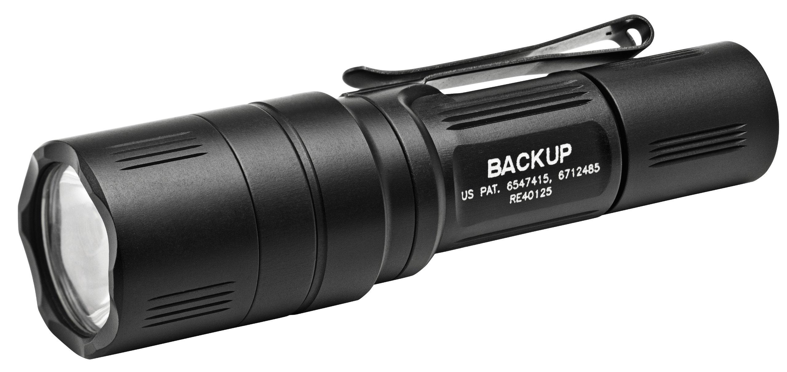SureFire  EB1C-B-BK 200 Lumens Backup Series LED Flashlight with TIR Lens and Two-Way Clip
