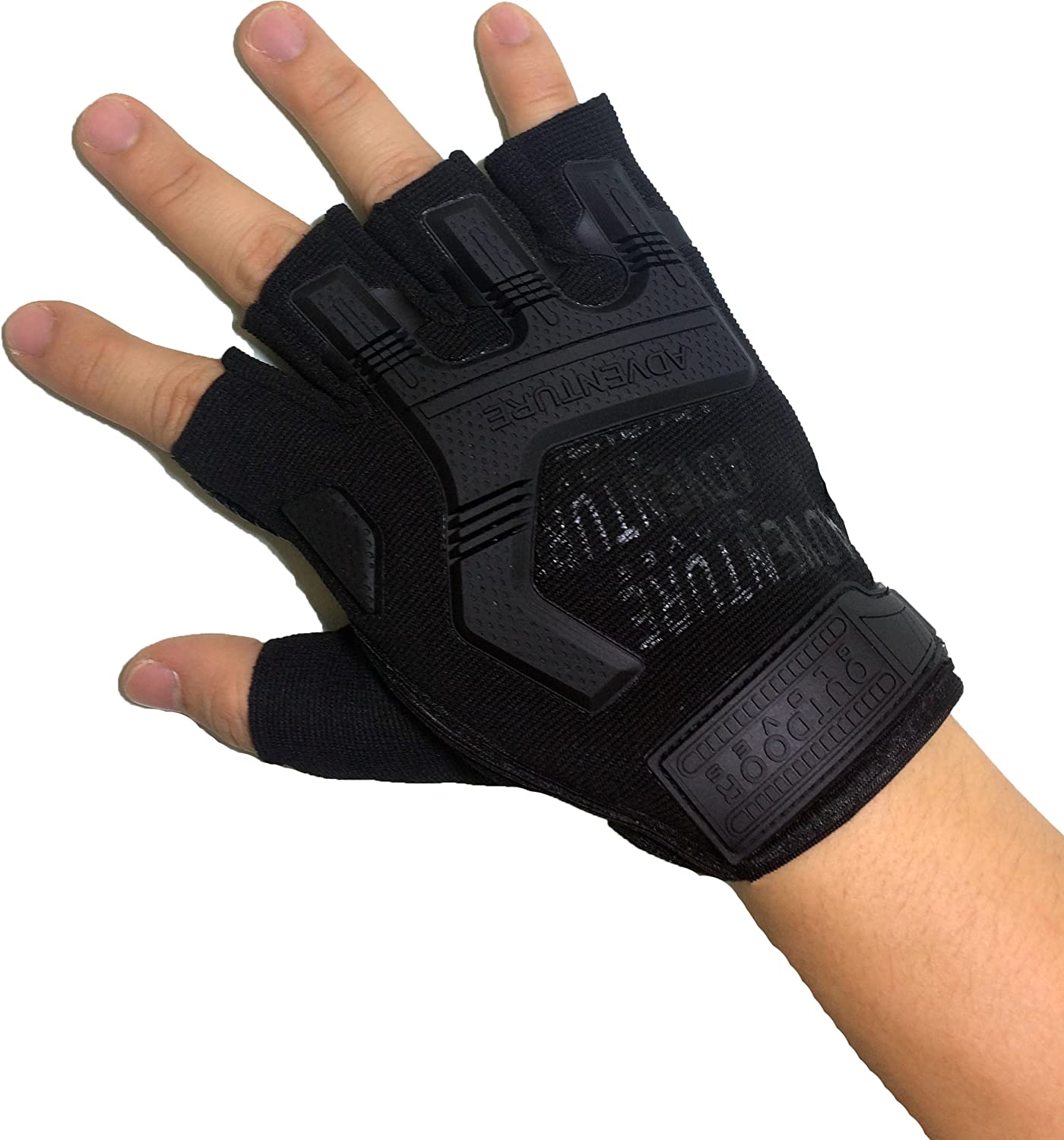 Ranger Return Tactical Half Finger Fingerless Light Assault Gloves Protection Riding Fitness Working Cycling Outdoor Sports Athletic Biking