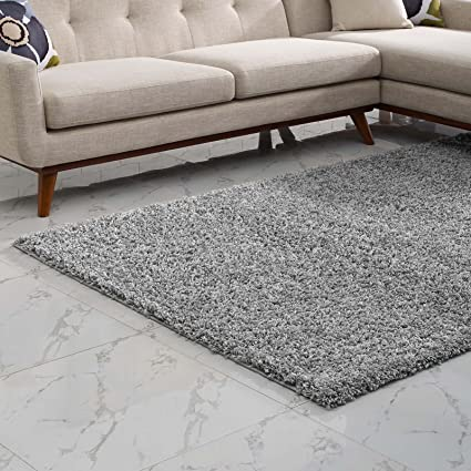 Gray Shag Rug 8x10.Modway Enyssa 8x10 Solid High Pile Shag Area Rug With In Silver Gray