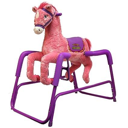 Amazon.com: Rockin\' Rider Melody Plush Spring Horse: Toys & Games