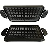 George Foreman GFP84WP Evolve Grill 84-Square Inch Waffle Plate Accessory Set, Black