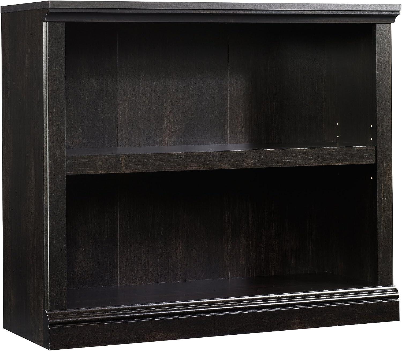 Sauder 2-Shelf Bookcase, L 35.28 x W 13.23 x H 29.92 , Estate Black finish