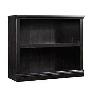"Sauder 414237 2-Shelf Bookcase, L: 35.28"" x W: 13.23"" x H: 29.92"", Estate Black finish"