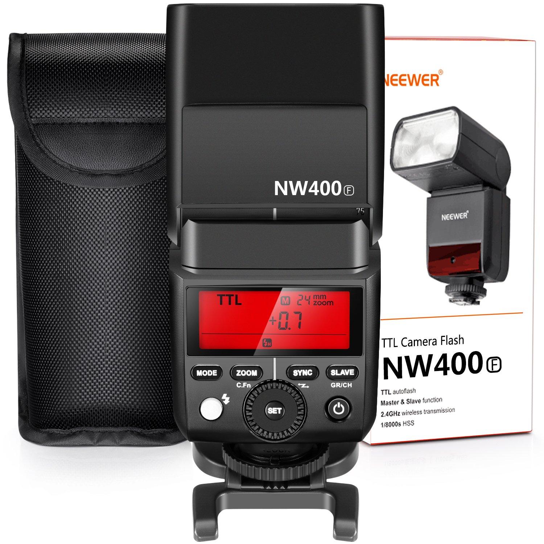 Neewer 2.4GワイヤレスTTLスピードライトフラッシュ HSS 1/8000s GN36 ハードディフューザー付き Fujifilm X-Pro2、X-T20、X-T2、X-T1、X-Pro1、X-T10、X-E1、X-A3、X100F カメラに対応(NW400F)   B0742YVW3T