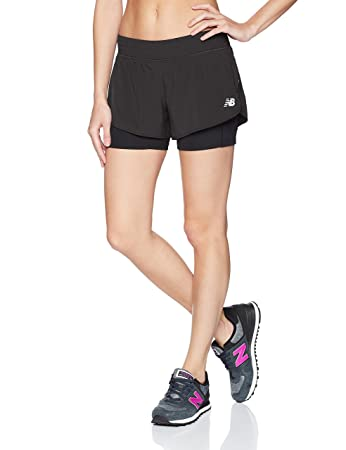 30e58cac New Balance Impact 4inch 2-in-1 Short W: Amazon.co.uk: Sports & Outdoors