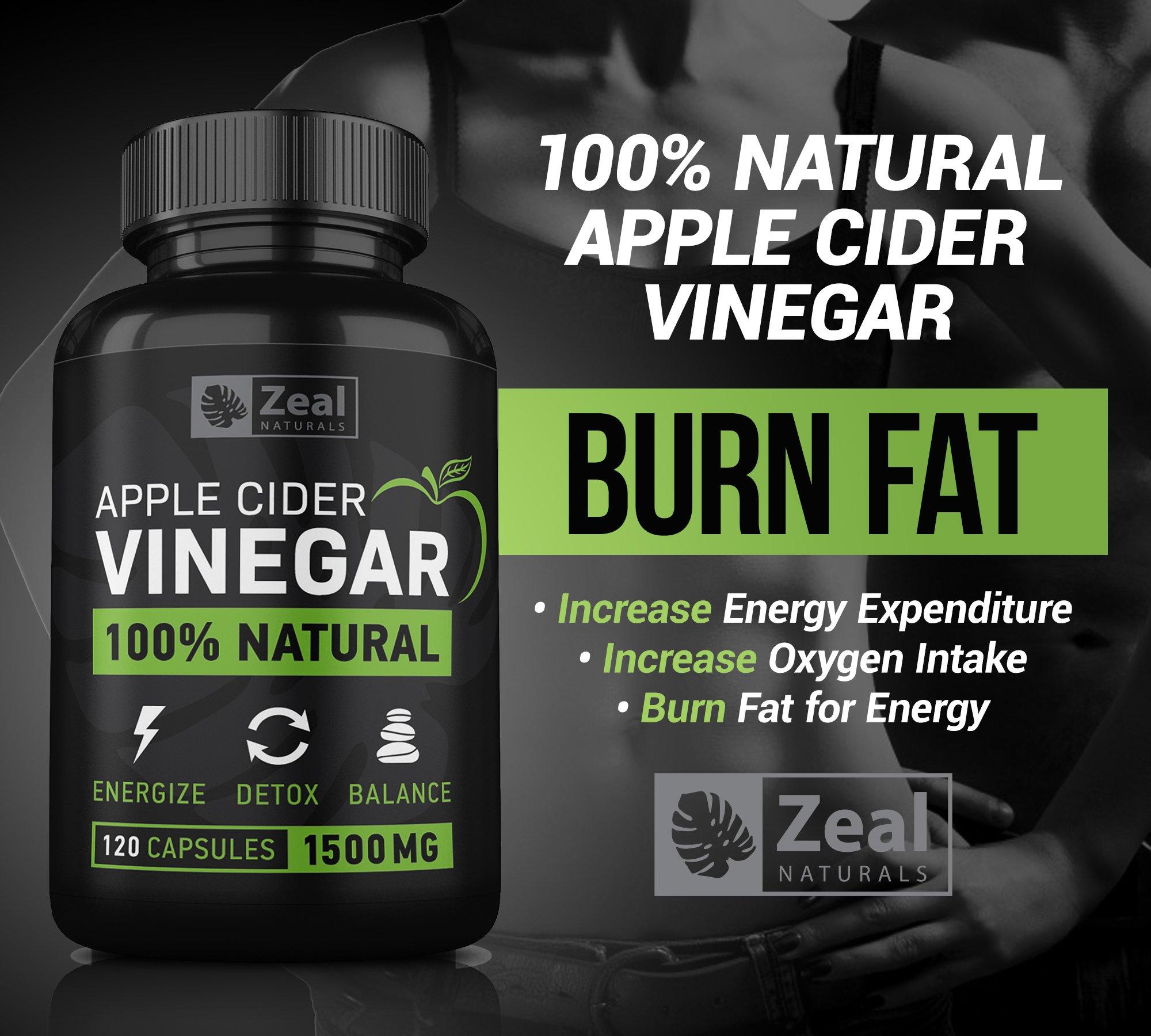 100% Natural Raw Apple Cider Vinegar Pills (1500 mg | 120