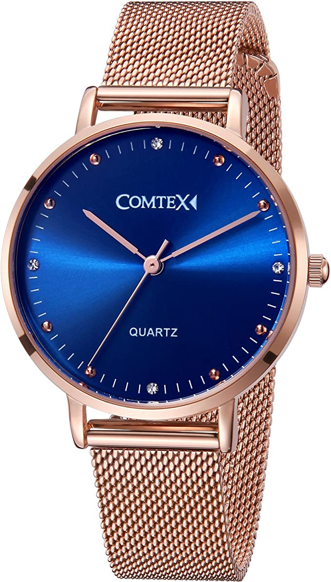 Comtex Damen-Armbanduhr Analog Rose Gold