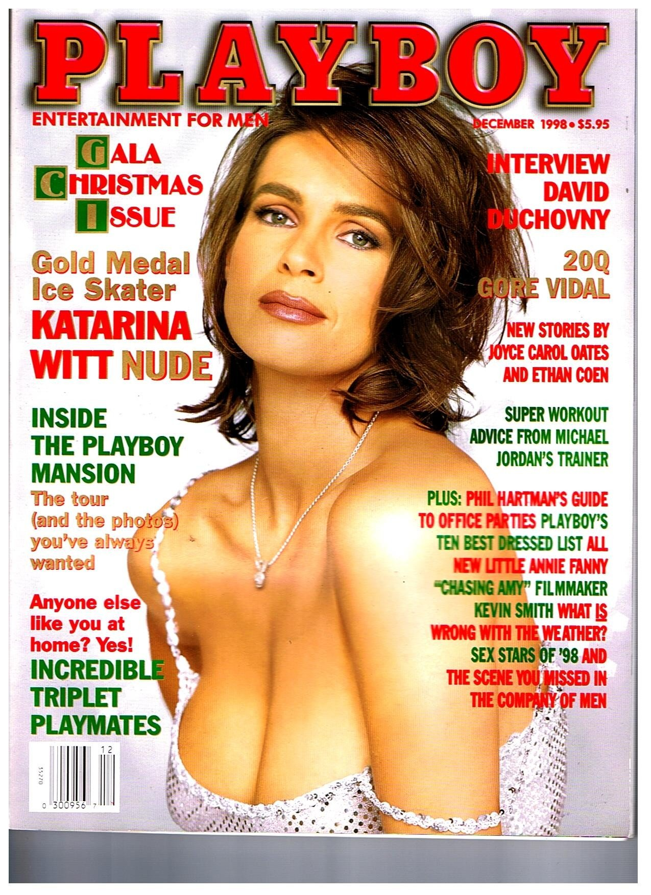 PLAYBOY MAGAZINE December 1998 Mbox2401 Katarina Witt David ...