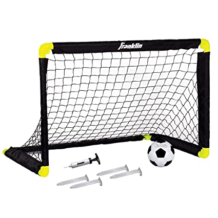 c14dca5626b Amazon.com   Franklin Sports Mini Soccer Goal - 36 x 24 Inch - Includes  Size 1 Soccer Ball and Ball Pump   Sports   Outdoors