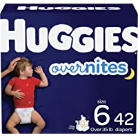 Huggies Overnites | Nighttime Baby Diapers | Size 6, 42 Ct