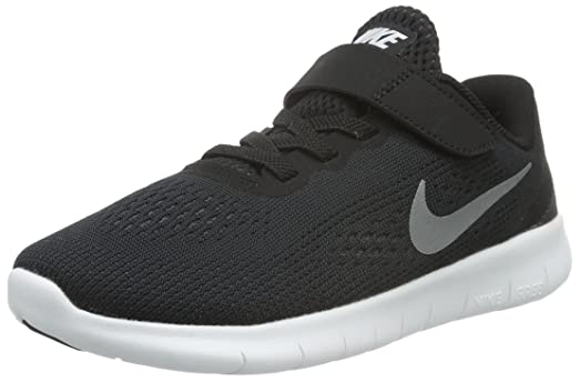 NIKE Free RN (PSV) Pre-School Shoe, BlackGreyWhite