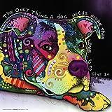 Dean Russo Dog Love Quote Modern Animal Decorative Art Poster Print, Unframed 12x12