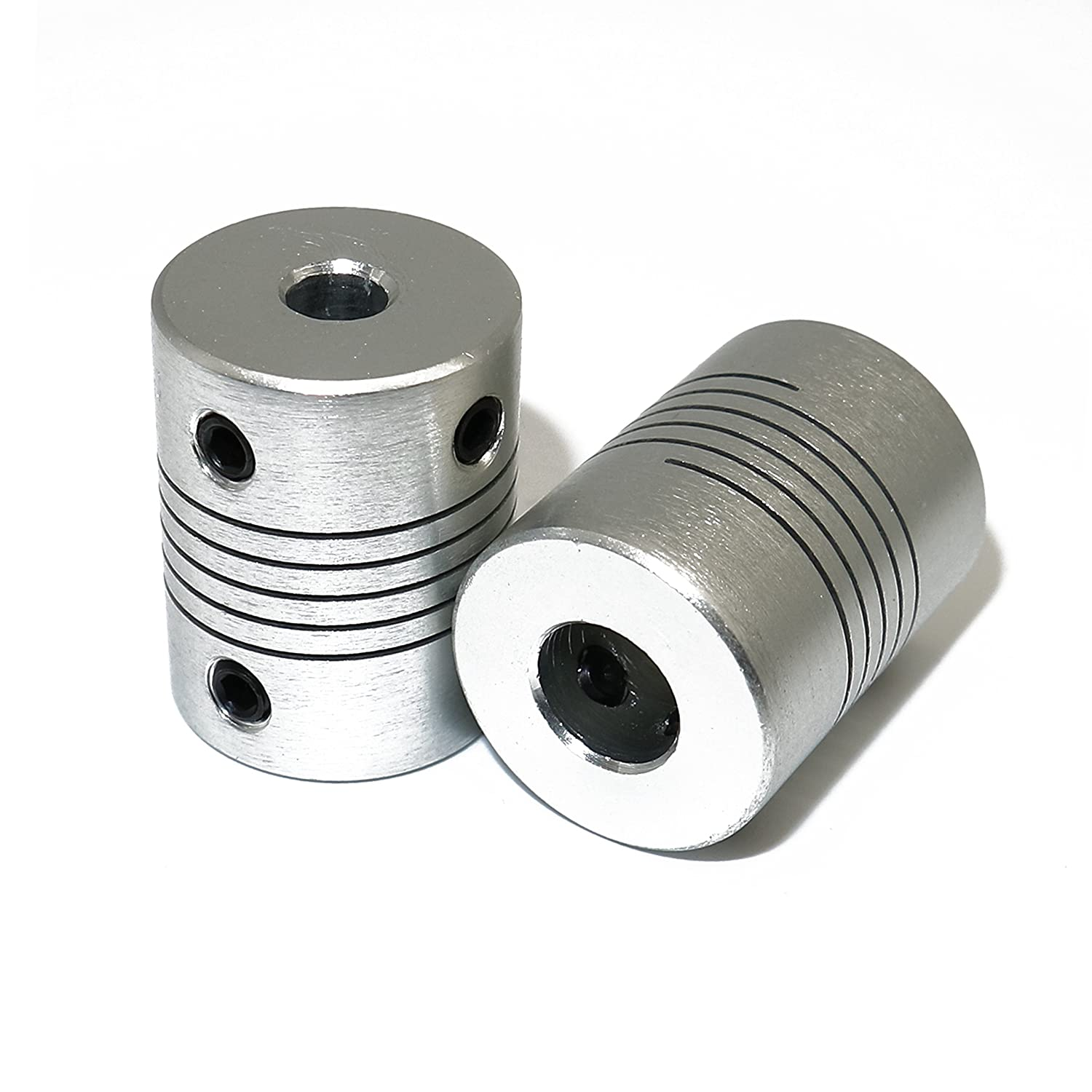 2 pcs flexible couplings 5 mm a 8 mm NEMA 17 eje para RepRap 3d ...