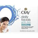 Olay Daily Facials Gentle Clean 4-in-1 Water Activated Cleansing Cloths, 33 count  Packaging may Vary