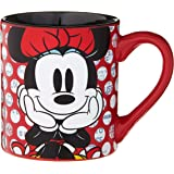 Silver Buffalo MD0132 Disney's Minnie Mouse Rock The Dots Ceramic Mug, 14 oz, Multicolor
