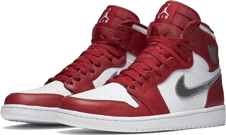 34122612352afa Nike AIR JORDAN 1 RETRO HIGH mens basketball-shoes 332550-602 13.5 - GYM RED  METALLIC SILVER-WHITE  Amazon.ca  Shoes   Handbags