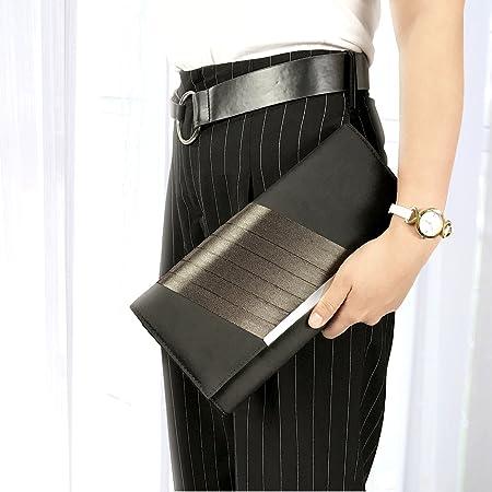 5f492382970 Amazon.com: Becko Satin & Matte Wallet and Purse Long Clutch Bag Handbag  Card Holder (Black): Clothing