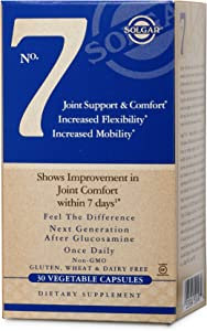 Solgar No. 7, 30 Vegetable Capsules - Joint Support & Comfort - Increased Mobility & Flexibility - Supplement for Men & Women - with Ester-C Vitamin C - Gluten Free, Non GMO, Dairy Free - 30 Servings