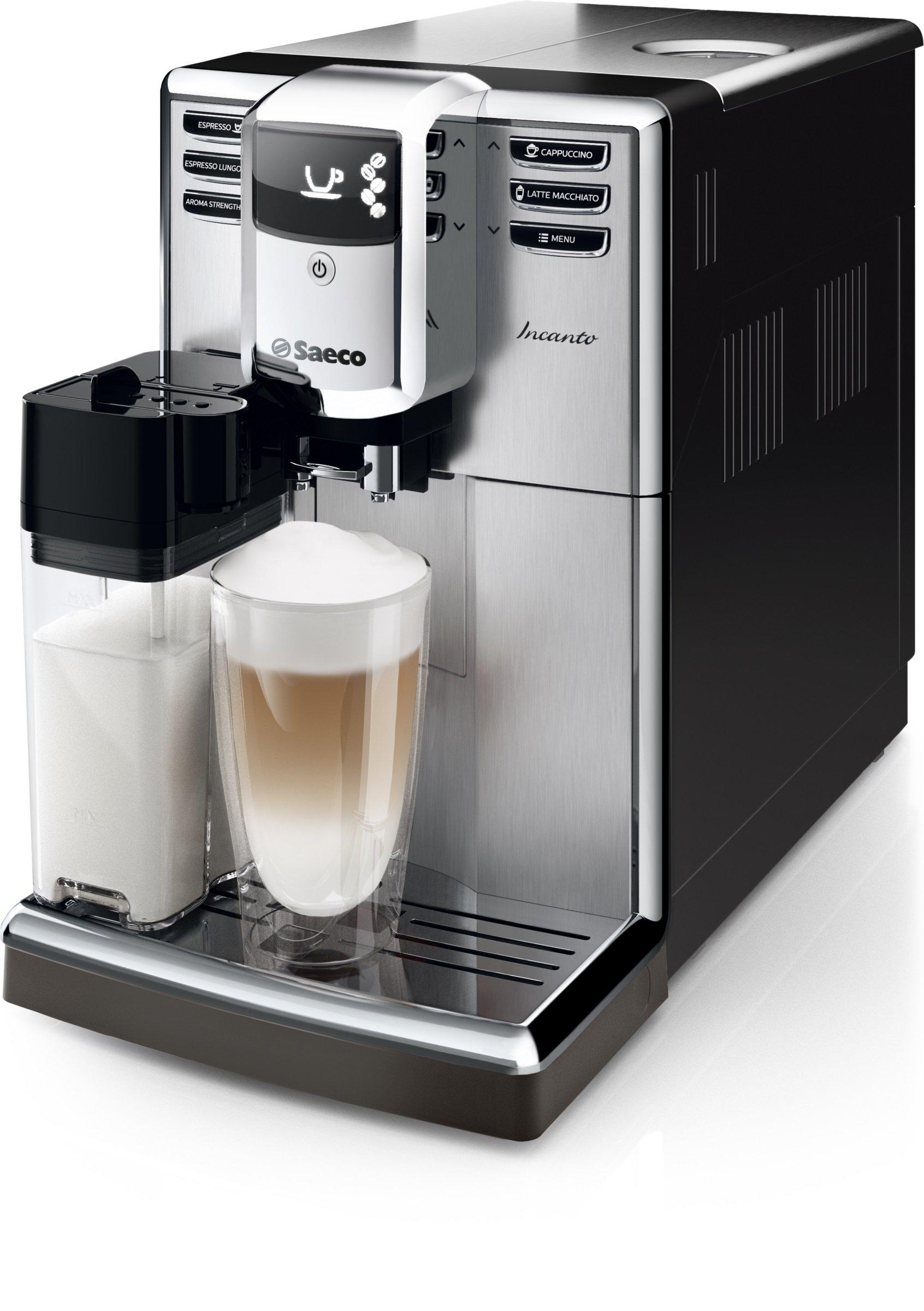 035df18316bec1 Saeco HD8917 01 Incanto Machine à Café Automatique Inox Noir, Ecran LCD,