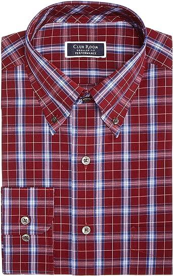 Club Room Blue White Striped Button Down Slim Fit Cotton Dress Shirt 16.5 36//37
