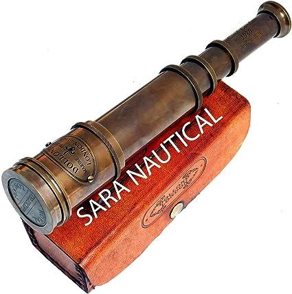 "Nautical Brass Spyglass Dollond London 15/"" Marine Old Antique Telescope Maritime"