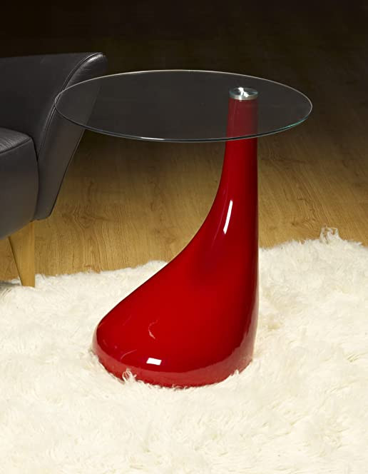 Side table end table lamp table round red gloss modern side table end table lamp table round red gloss modern design aloadofball Images