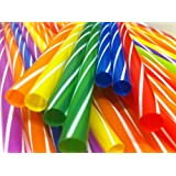 50 PCS MULTICOLOUR MILKSHAKE JUMBO SMOOTHIE THICK DRINK DRINKING STRAW PARTY BAR