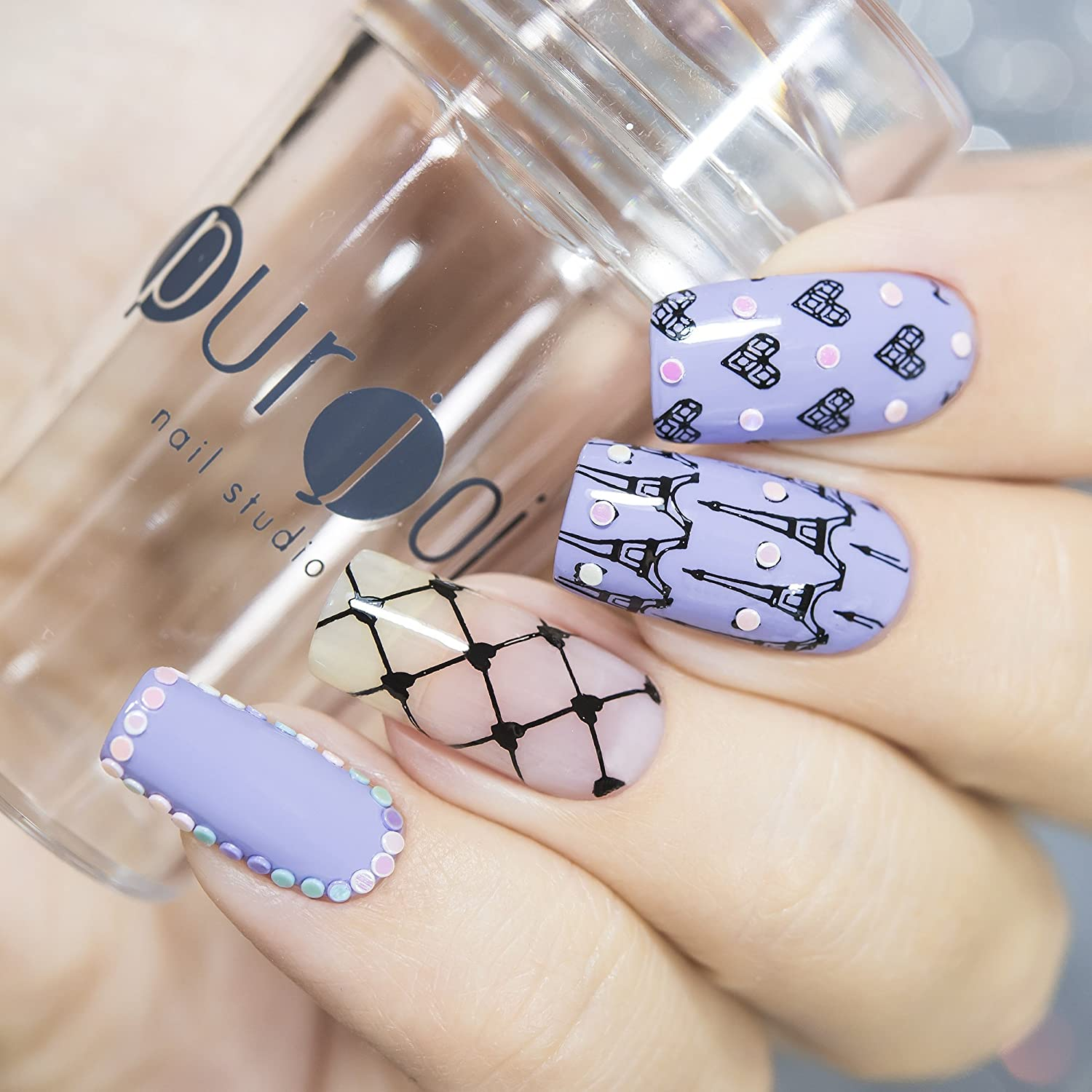 Amazon Clear Nail Art Stamper With Cap Clear Nail Art