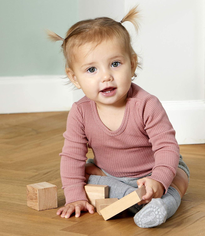 4 Farben ABS Non-Slip Unterst/ützung F/ür Aktive Kinder Im Krabbelalter 6-12M /& 1-2J GoBabyGo Original Rutschfeste Baby Krabbel Socken Bambus Viscose