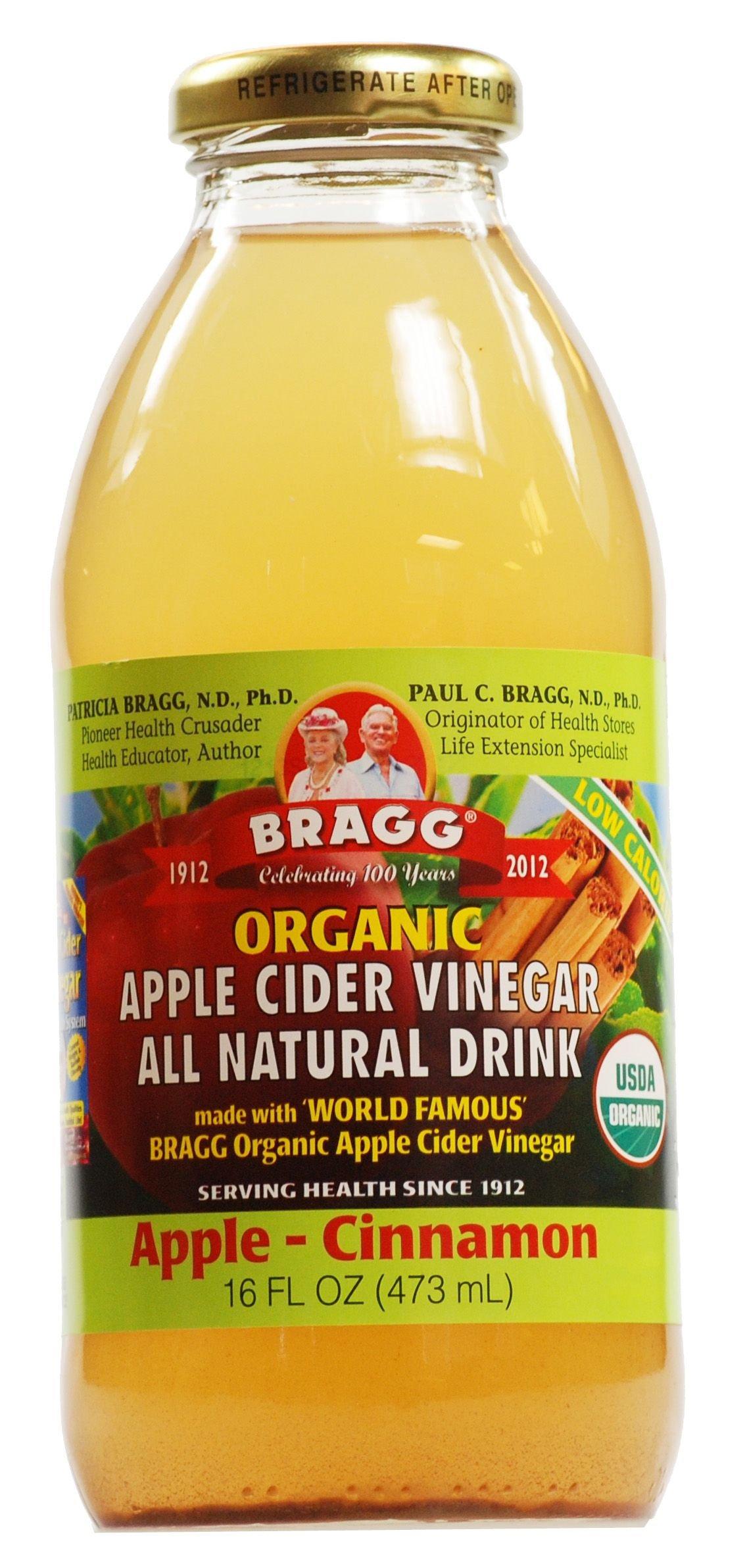 Bragg - Organic Apple Cider Vinegar All Natural Drink Apple Cinnamon - 16 oz. (Pack of 2)