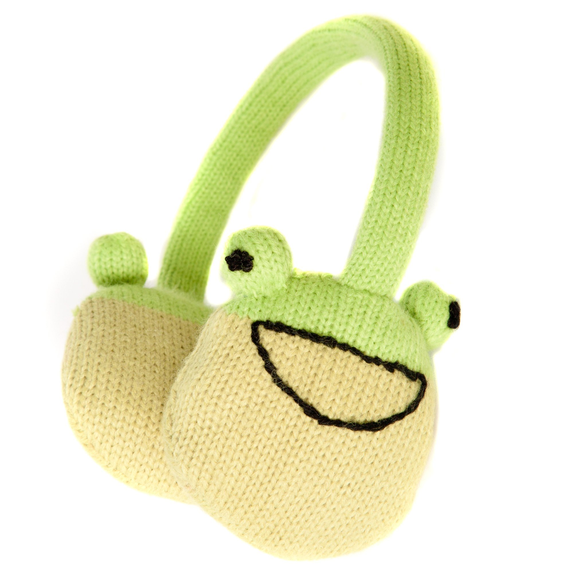 Accessoryo Women's Cute Frog Style Winter Thermal Fashion Earmuffs One Size Green