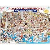 White Mountain Puzzles Boston Waterfront - 1000 Piece Jigsaw Puzzle
