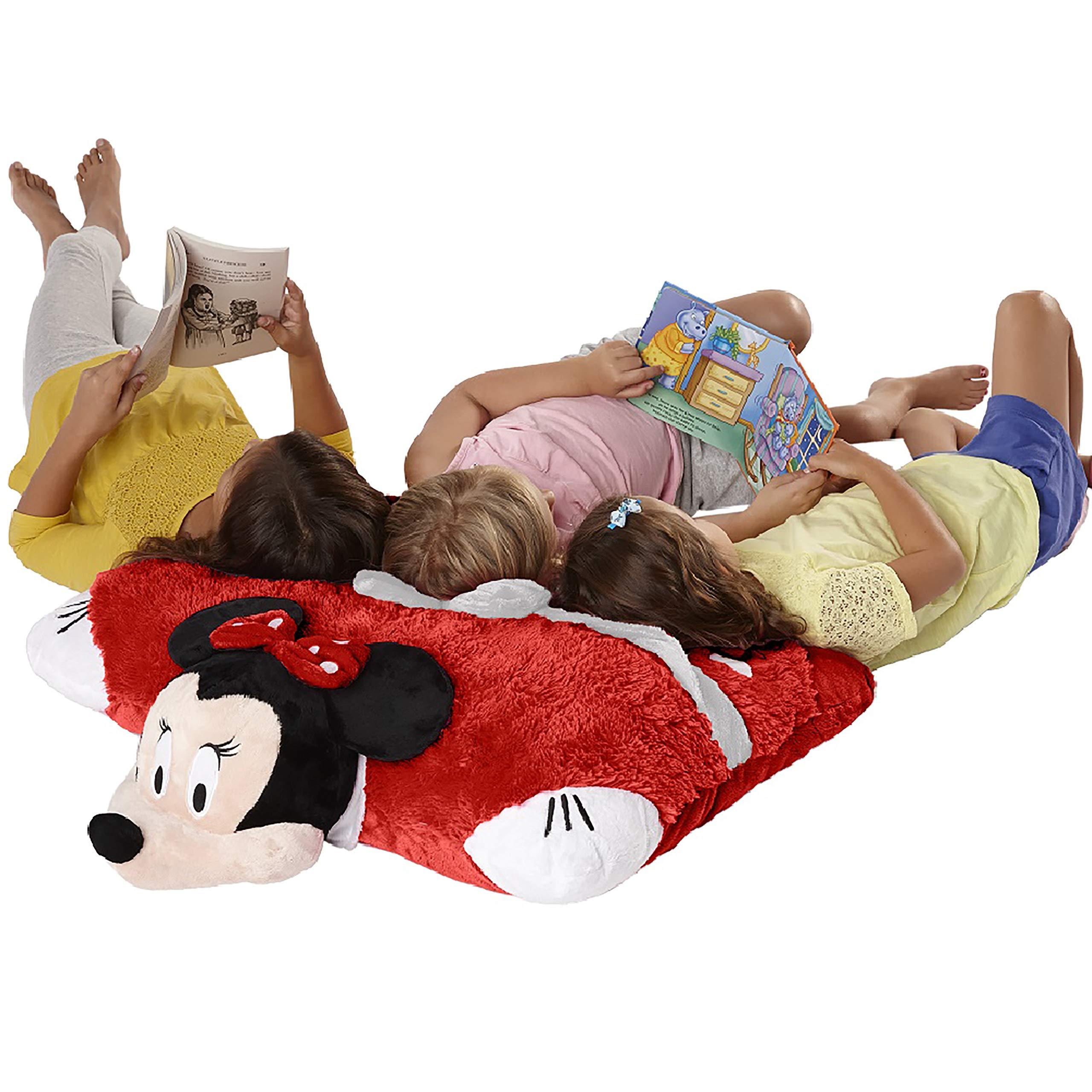 Pillow Pets Jumboz Disney, Minnie Mouse, 30'' Jumbo Folding Plush Pillow