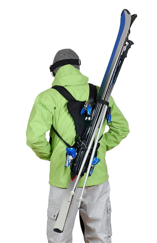 Wantalis - Skiback - Ein revolutionäres Produkt, um Ihre Ski freihändig zu tragen - Anpassbare und verstellbare Schultergurte WANT7|#Wantalis SKIBK