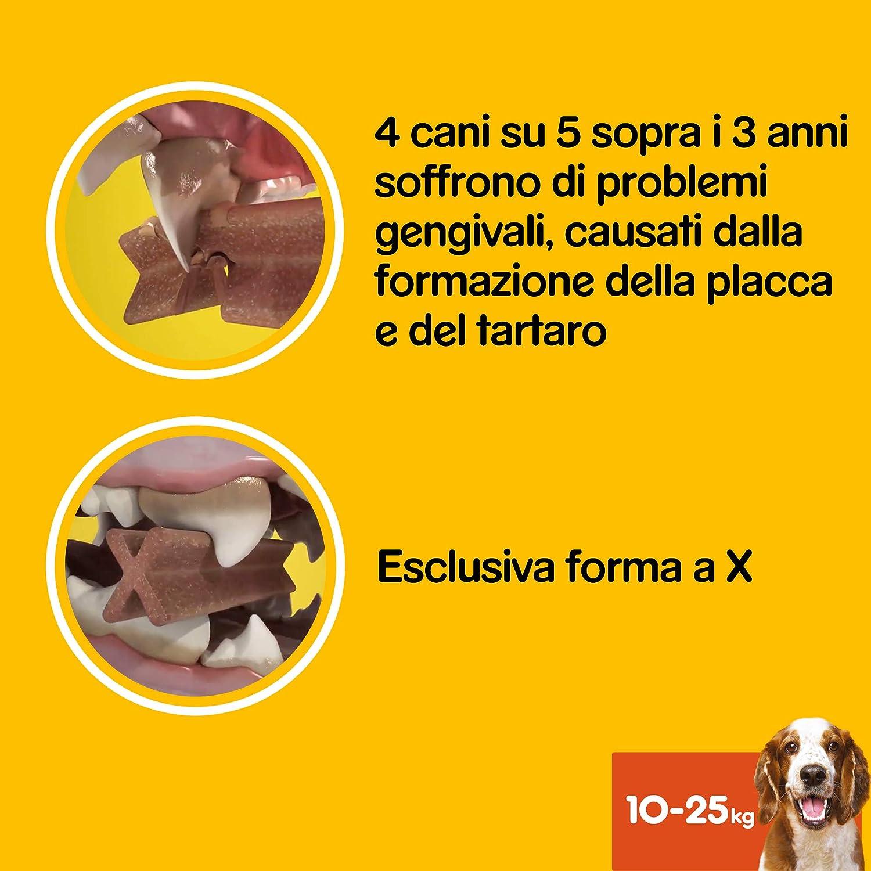 70 Bastoncini in totale 180 g 7 Bastoncini Pedigree Dentastix Fresh Snack per la Igiene Orale 10 Pacchetti Cane Medio 10-25 kg