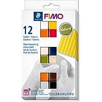 Staedtler 8023-C12-4. Pasta para modelar FIMO. 12 pastillas de colores de 25 gramos. Pack Colores Naturales. , color…