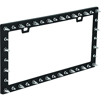 Bell Automotive 22-1-46117-8 Universal Chrome Spike Design License Plate Frame: Automotive