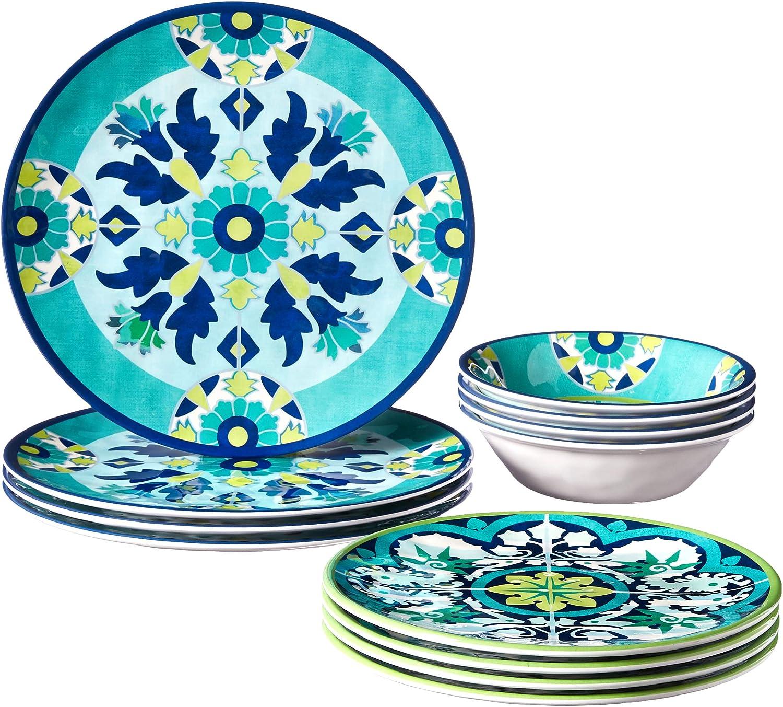 Multicolor Certified International Granada 9 Salad//Dessert Plate Set of 6