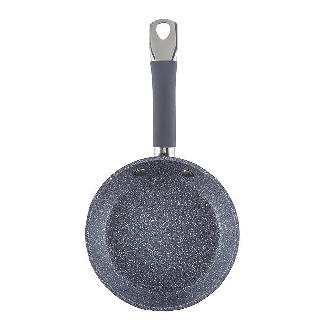 Sartén Ø14 x 3,5 aluminio forjado, mango tubular con revestimiento de silicona, inducción: Amazon.es: Hogar