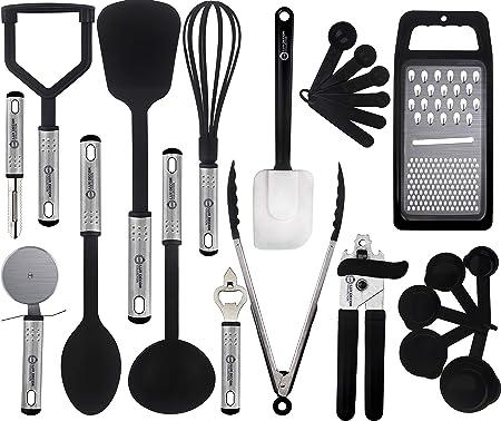 Lux Decor Collection Cooking Utensils Set – 23 Pieces – Nylon Kitchen  Utensils- Kitchen Gadgets - Cookware Sets - Nonstick Kitchen Essentials -  ...