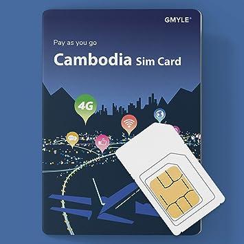 GMYLE Tarjeta SIM prepaga Recargable 4G LTE / 3G con Paquete ...