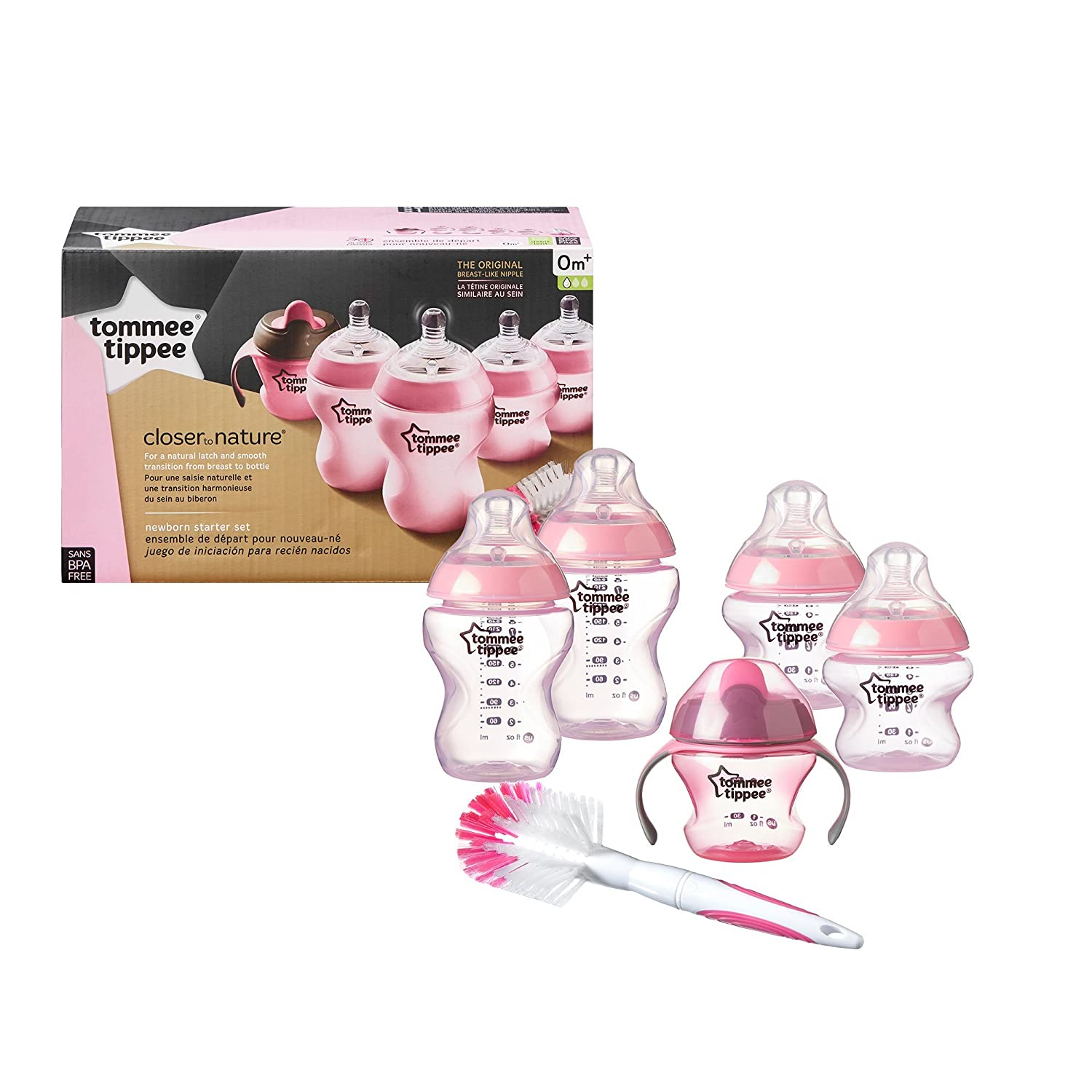 Tommee Tippee Closer to Nature Newborn Baby Bottle Starter Set, Includes Breast-Like Nipple...