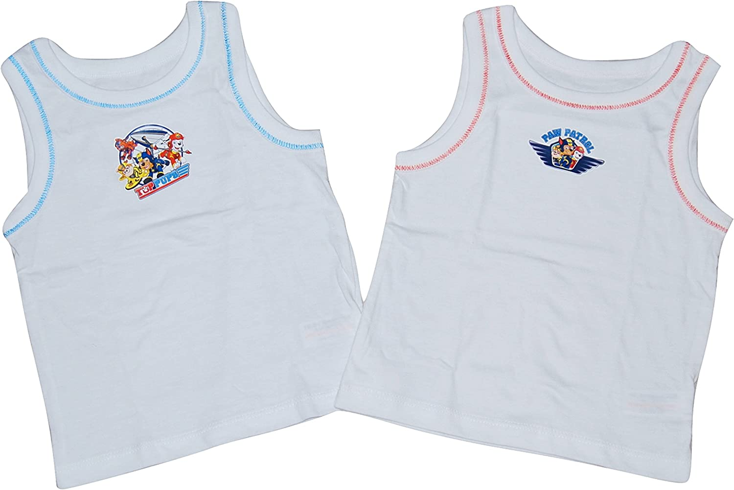Paw Patrol Boys Vests 2 Pack 18 Months - 5 Years: Amazon.co.uk: Clothing