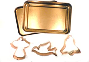 Global Decor 3 Piece Copper Plated Peace Holiday Cookie Cutter Set