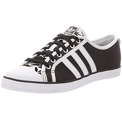 adidas Nizza Low Sleek, Basket mode femme noirblancnoir, 40