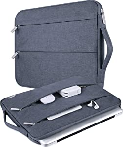 V Voova 14 15 15.6 Inch Laptop Sleeve Case,Slim Computer Cover Bag with Handle Compatible with MacBook Pro 16,Surface Book 3 15,Chromebook 14,Acer Aspire 5,HP Pavilion,Lenovo Yoga,Dark Grey