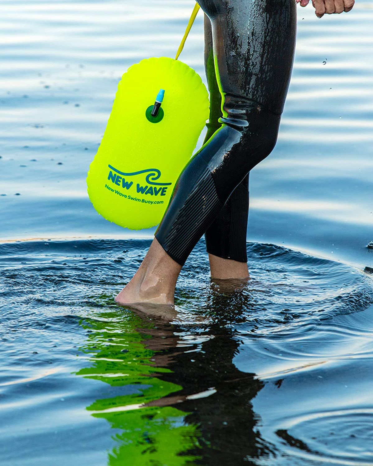 New Wave Swim Bubble for Open Water Swimmers PVC Green Bundle